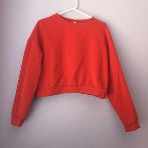 ‼️ Cute Red Crop Sweatshirt